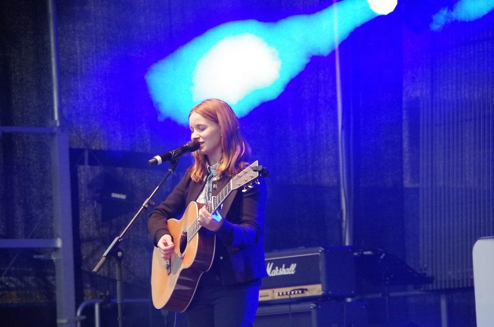 Marit on stage!